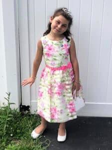 Girl wearing princess dress