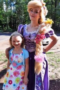 Girl with a princess