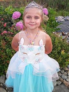Girl in princess dress